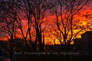 Sonnenuntergang in Sommerrain