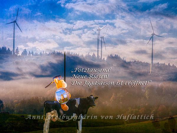 Stolz trug Don Quixote die Trophäe seines letzten Kampfes im Schild, doch plötzlich ...