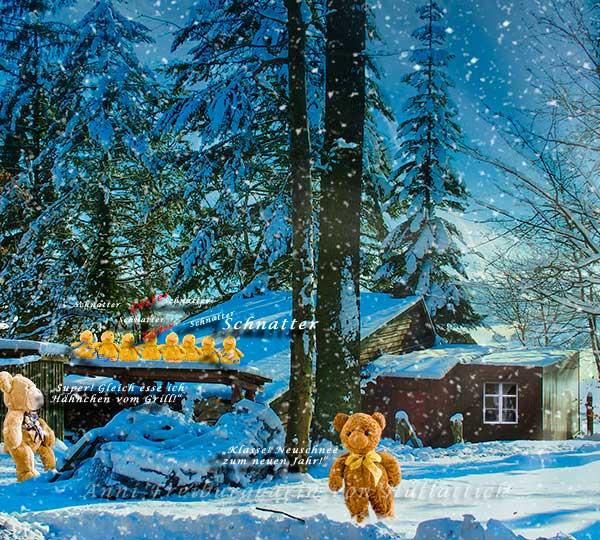 Januar: Klirrende Kälte und Neuschnee. Haha!