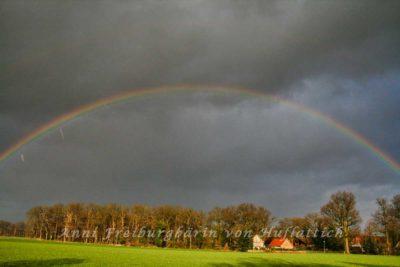 Regenbogen am Neujahrsmorgen