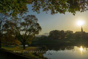 Bevor die Sonne ganz verschwunden ist: Nachmittag im Rosensteinpark