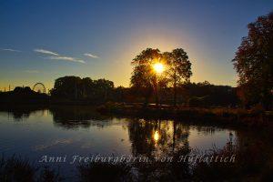 Der Rosensteinpark bei aufgehender Sonne