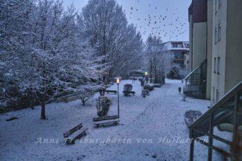 Schnee begräbt das Land