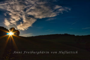 Sonnenaufgang im herbstlichen Schwarzwald